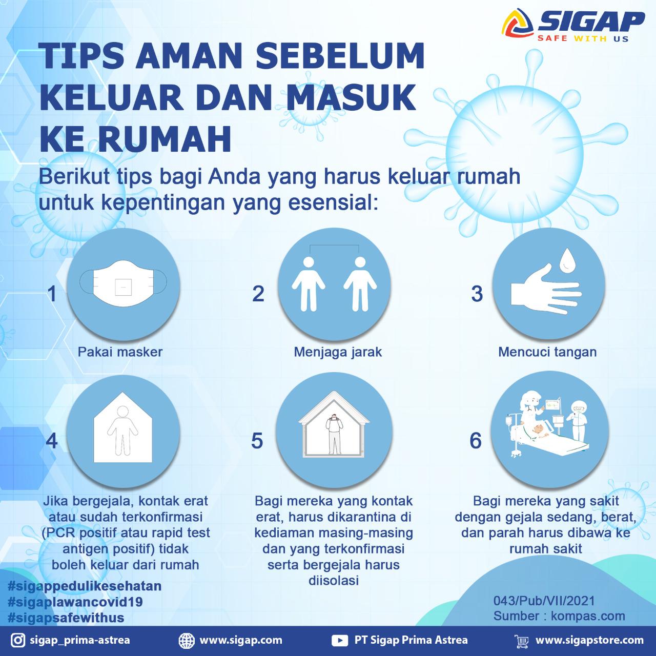 Tips Aman Seblum Keluar Rumah